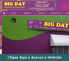 Website do Big Day Buffet em Itatiba